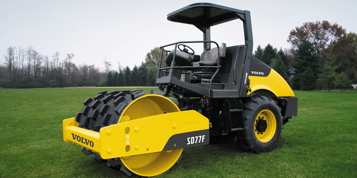 Volvo SD77F Sheep Foot Compaction Roller